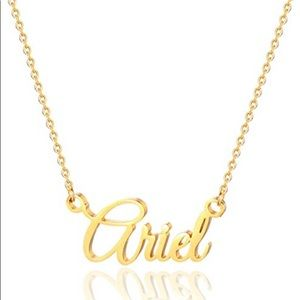 Gold Ariel Name Necklace